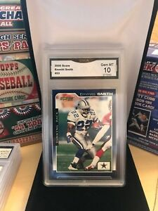 2000 Score Emmitt Smith #53 Dallas Cowboys GMA Gem MT 10