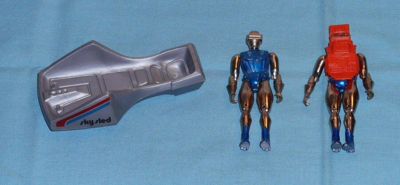 Vintage - zee spielzeug - mann radon x2 mit sky - schlitten & helm
