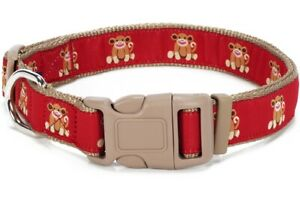 Douglas Paquette SOCK MONKEY RED Nylon/Ribbon Adjustable Dog Collar Harness Lead