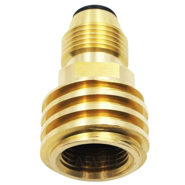 Converts Propane LP TANK POL Service Valve to QCC Outlet Brass Adapter