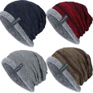 e2f120e8421 Men Women Knitted Baggy Beanie Winter Warm Hat Ski Causal Knit Cap ...