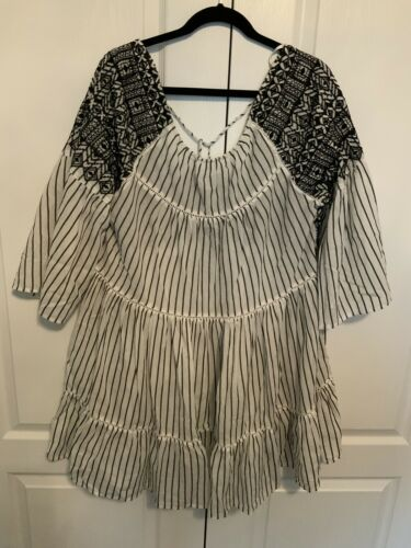 FREE PEOPLE Womens Hippie Bohemian Pullover Top Si