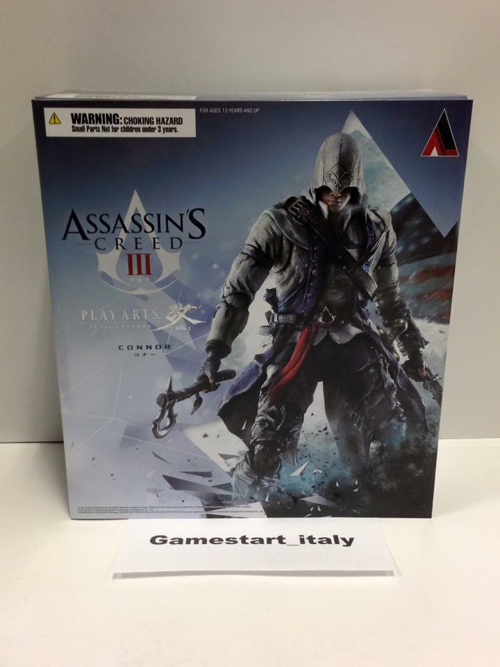 ASSASSIN'S CREED PLAY ARTS NEW - ACTION CONNOR - ACTION - FIGURE - NUOVA NEW - 28 CM 8a654b