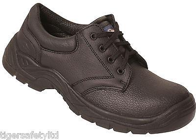 Pro Homme PM102 S3 Noir Cuir Acier toe cap Chukka Chaussures de sécurité chaussures de travail epi
