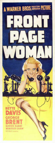 Front page woman Bette Davis  movie poster print #2