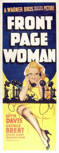 Front page woman Bette Davis  movie poster print #2