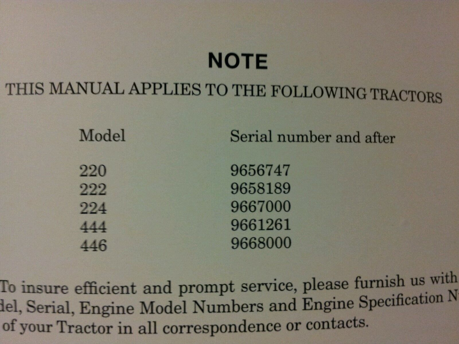 Case 220 222 224 444 446 Operators Manual Ebay Tractor Wiring Diagram Norton Secured Powered By Verisign