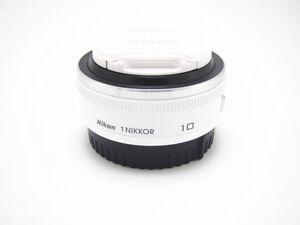 Weisse-Nikon-1-Nikkor-10-mm-F-2-8-RF-Aspherical-Objektiv-fuer-j2-j3-j4-j5-v1-v2-v3