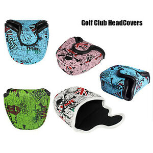 PU-Leather-Mallet-Putter-Cover-Golf-Putter-Headcover-Golf-Club-Heads-Accessories