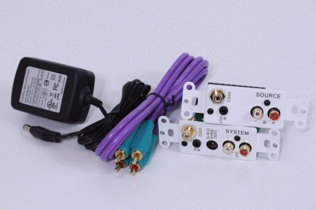 Elan IR Audio Video Wall Plate Kit (White) RSWP