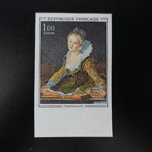 Picture-the-FRAGONARD-STUDY-N-1702-Stamp-Non-Dentele-Imperf-1972-Neuf-Luxe-Mnh