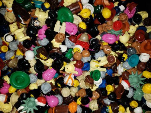 NEW LEGO 50  Assortment of hats hair for Lego Minifigs//Minifigure 10 free heads