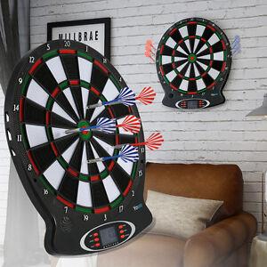 elektronisch dartscheibe dartautomat dartboard mit 6 darts. Black Bedroom Furniture Sets. Home Design Ideas