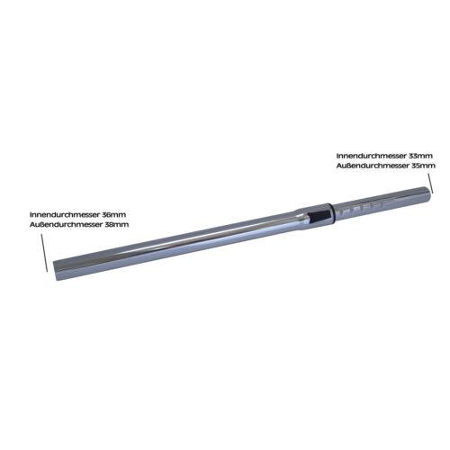 35mm Staubsaugerrohr Saugrohr Teleskoprohr kompatibel für Miele S1 195 EcoLine