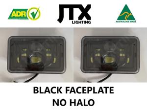 "JTX, 1 Pair Black LED Headlights, 4x6"", No Halo, Toyota Landcruiser"