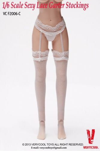 VERYCOOL VCF2006-C Lace Silk Stockings Top Thigh Seam 1//6 White Female Hosiery