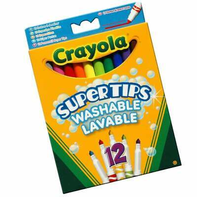 Crayola 24 Washable Supertips Felt Tip Pens with Conical Tip