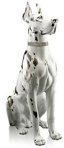XXL-Dogue-Ceramique-105-cm-Fait-a-la-main-Italien-blanc-platinum-Animal-fort