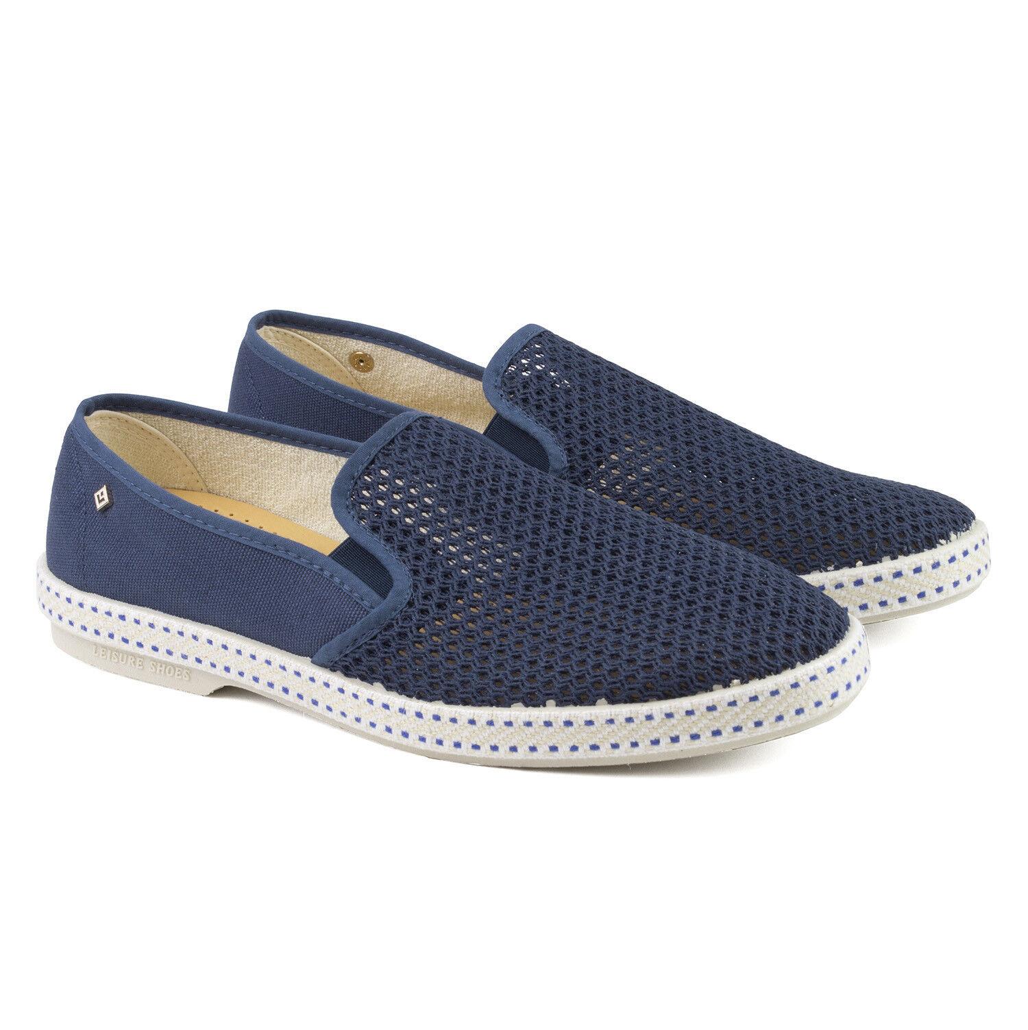 RIVIERAS Classic 20° blue De Travail bluee Slip On Espadrilles shoes RRP