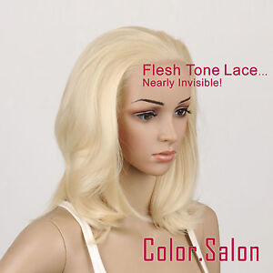 Hand-Tied-Flesh-Lace-Front-Synthetic-Wigs-Glueless-Light-Golden-Blonde-97-613-F