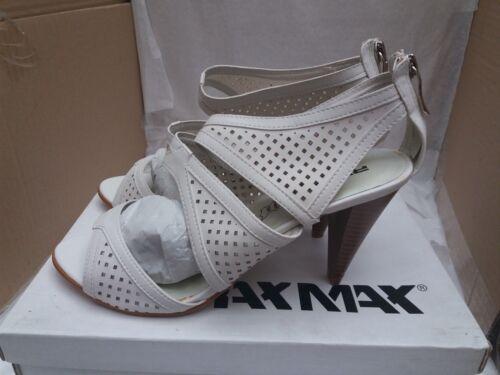 Damen Raxmax 00 Designer 89 Perforierte Weiß SandalenGröße Uk Rrp 7eu 40 £ WeEHID29Y