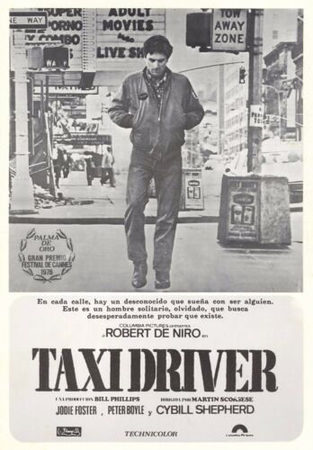 Taxi Driver 1976 Rober De Niro Retro  Movie Poster A0-A1-A2-A3-A4-A5-A6-MAXI 314