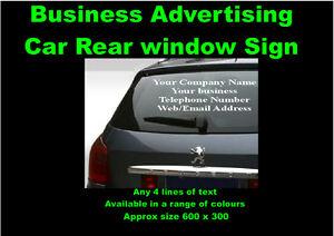 3017b50d67 Image is loading Car-amp-Van-Rear-Window-Vinyl-Sign-Writing-