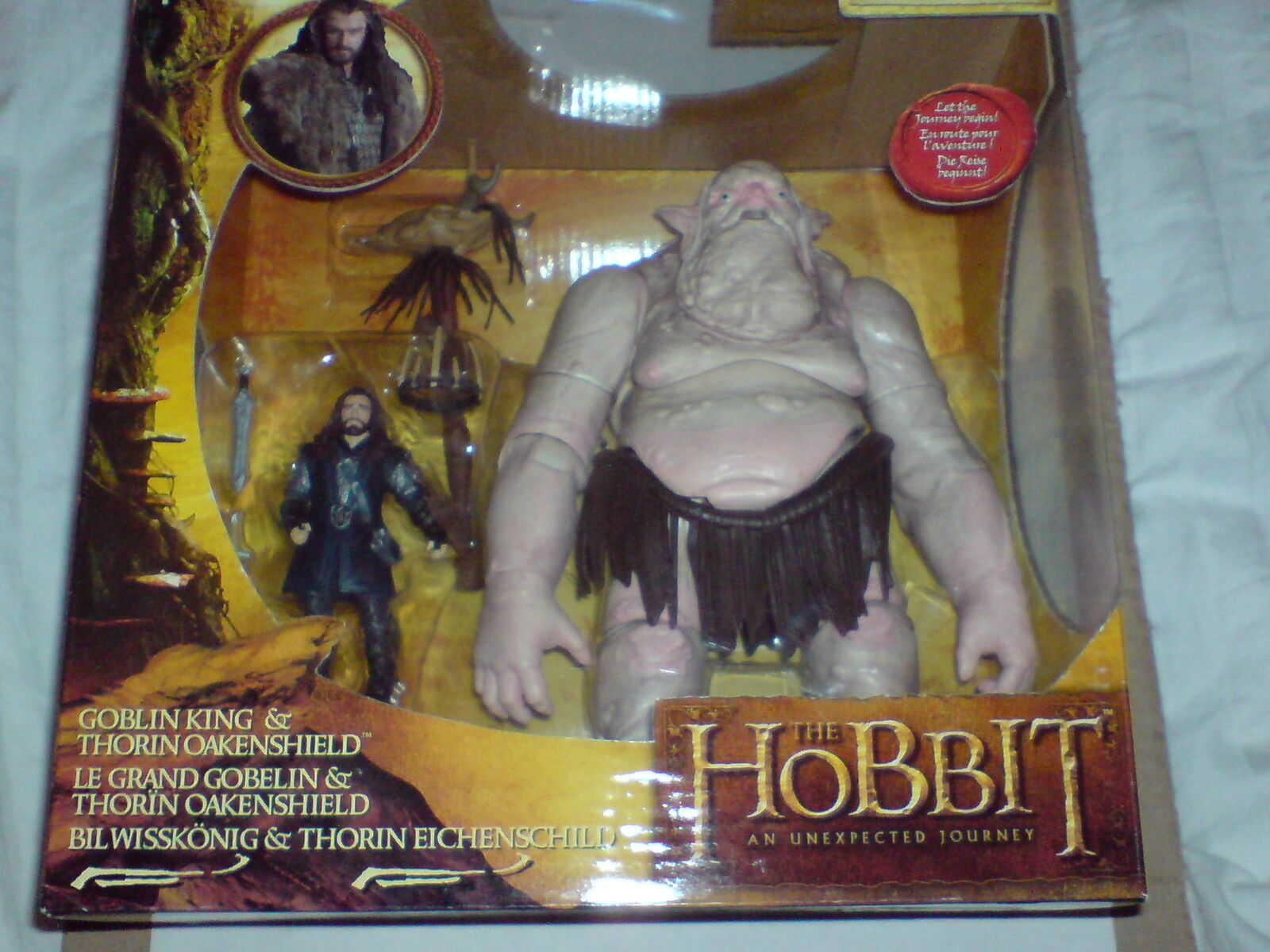 Lo HOBBITUN IMPREVISTO Jouney Hobbit Thorin  Pack di battaglia Re Goblin NUOVO CON SCATOLA