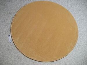 6102-runder-Teppich-100-cm-Kettelteppich-rund-feiner-Kraeuselvelours-gelb-orange