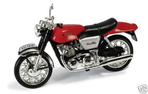 1:24 Motorrad Youngtimer Ixo Norton Commando rot red Baujahr 1969
