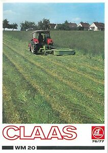 Claas Mower Wm20 Brochure Ebay border=