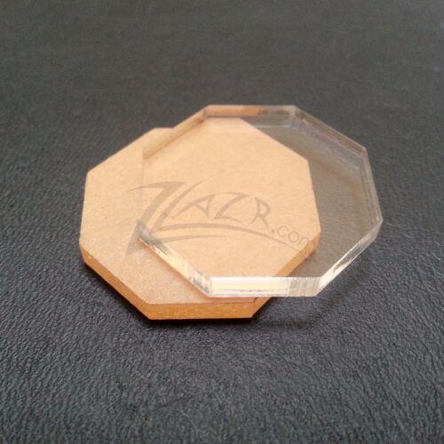 "50 1/""x1//8/"" OCTAGON Shapes Clear Acrylic Disc Plastic Plexiglass Geometric Craft"