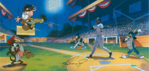 Warner-Brothers-Junior-039-s-League-Limited-Edition-Cel-Signed-By-Ken-Griffey-Jr