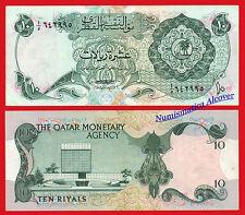 QATAR CATAR 10 Riyals 1973 Pick 3  BC / F