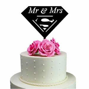 Sugar Yeti Made In USA Wedding Cake Topper Mr & Mrs Superman Decoration