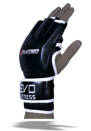 EVO MMA Gloves Martial Arts UFC Kick Boxing Muay Thai Sparring Grappling Wraps