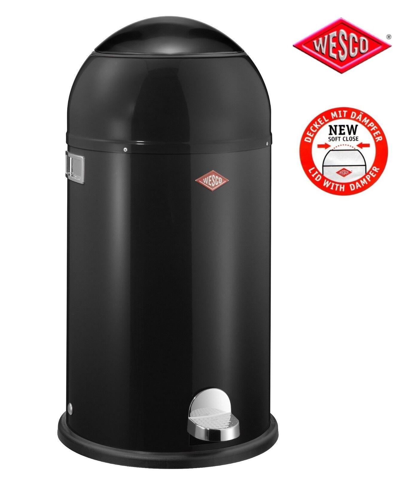 Wesco Cubo de Basura Liftmaster Negro Diseño Pedal con Soft Close Tapa 33L
