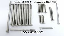Honda CB550/CB 550 / F Series - Crankcase Cover Bolts Set - Stainless Steel