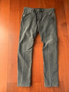 Rare-Sample-Levis-Engineered-Mens-Jeans-Sz-32-X-32-Twisted-Taper-Grey-Pants-LVC