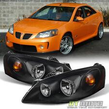 New Black 2005 2010 Pontiac G6 Headlights Headlamps Aftermarket 05 10 Leftright Fits Pontiac G6