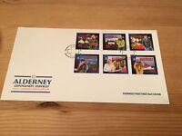 ALDERNEY FDC 2002 COMMUNITY SERVICES 02 EMERGENCY LIFEBOAT AMBULANCE TRISLANDER