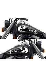 Motorcycle Gas Tank Badge Flame Decal Sticker Set 13x 5.5 Universal Mf36