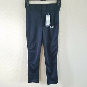 Under Armour Garçons Relaxed Fit Pant Amj Youth M Heat Gear Sport Baseball-afficher Le Titre D'origine Renforcement De La Taille Et Des Nerfs