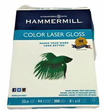 Hammermill Color Laser Gloss Paper 85 X 11 32 Lbs 94 Brightness 163110