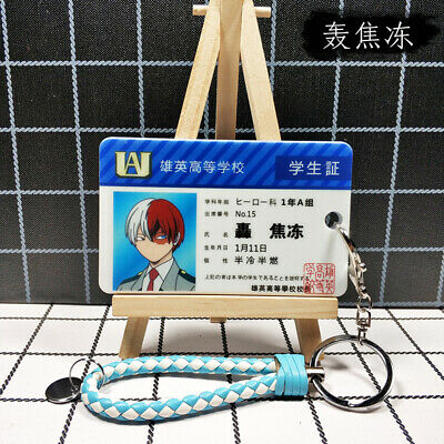 My Hero Academia Kaminari Denki Cosplay Hero Student ID Card Holders Key Chains