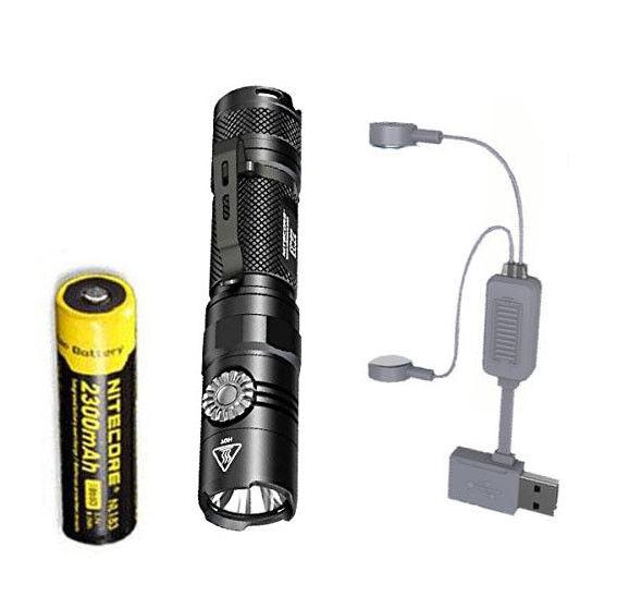 NITECORE EC22 + -1000 Lumens LED Flashlight w/NL183 Battery + EC22 A1 Charger dd90a6