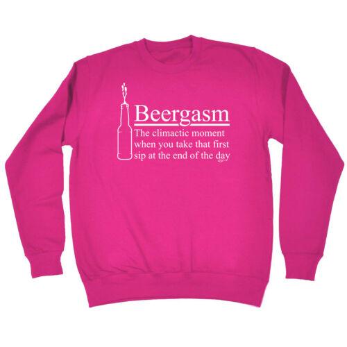 Funny Sweatshirt Beergasm Birthday Joke Humour tee Gift Novelty JUMPER