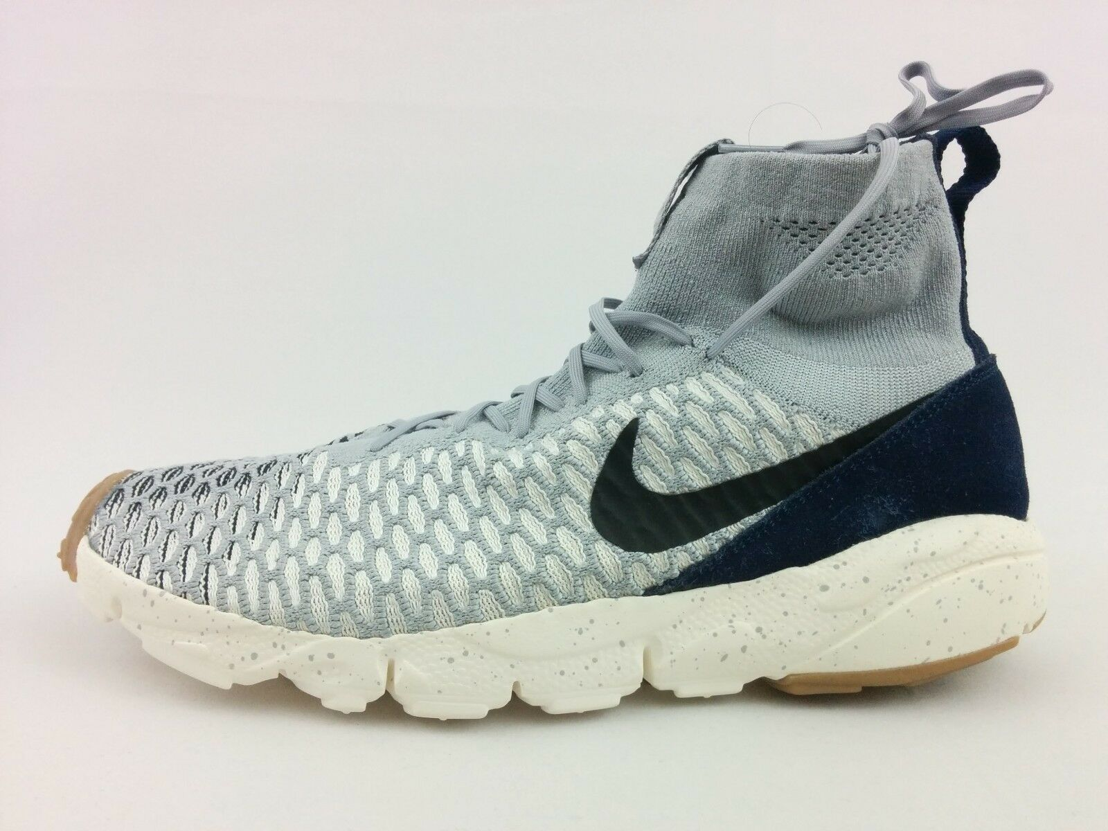 Nike Footscape Magista Flyknit SIZE 11.5 Wolf Grey Obsidian Sail 816560-001