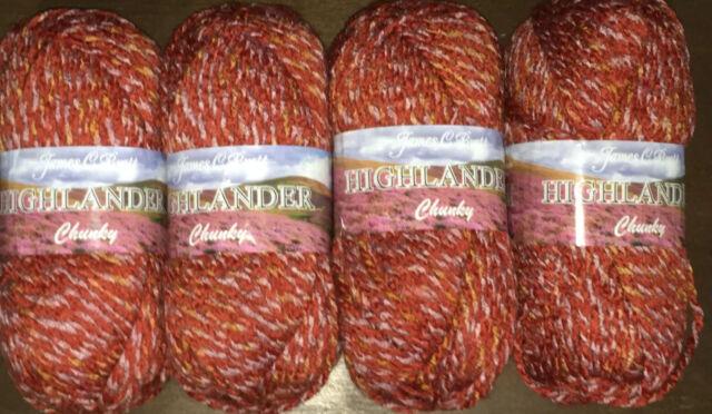 BRETT TUSCANY CHUNKY 5 Balls 500 Grams Acrylic Wool Cotton TU5 JAMES C