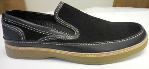 Stacy Adams Men/'s DayStar Black Suede//Leather Slip-On 53377 001
